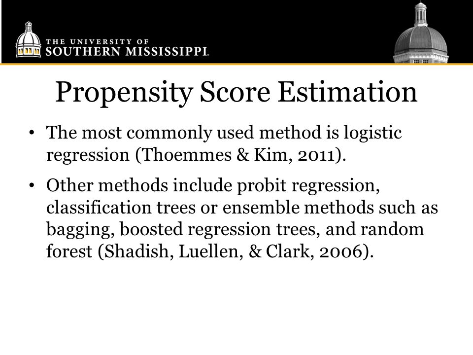 Propensity Score Estimation