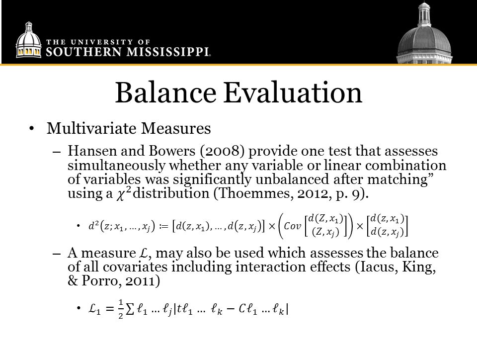 Balance Evaluation Multivariate Measures