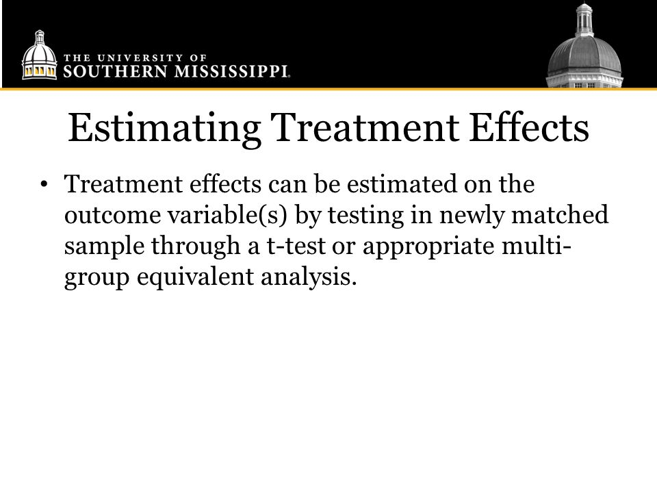 Estimating Treatment Effects