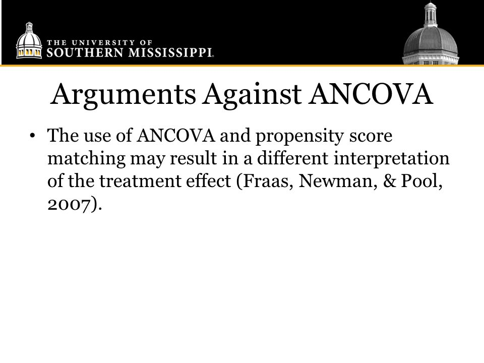 Arguments Against ANCOVA