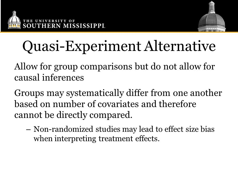 Quasi-Experiment Alternative