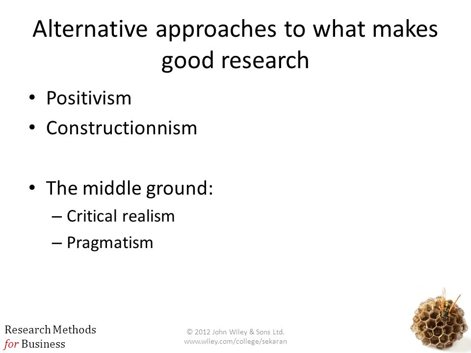 Alternative approaches to what makes good research
