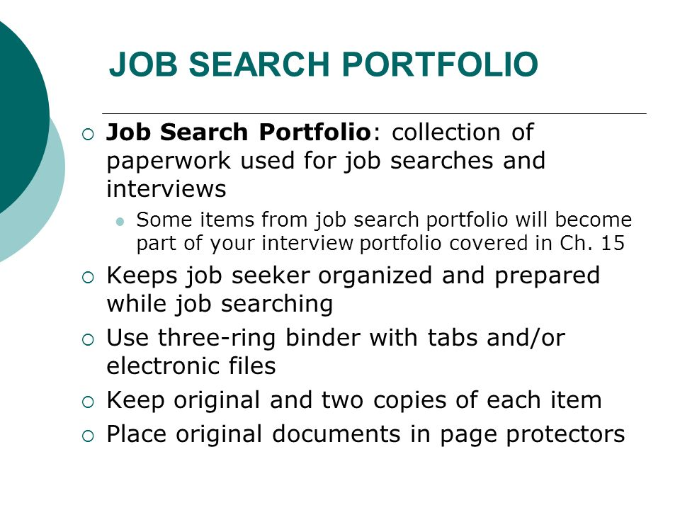 Chapter 13 Job Search Skills Ppt Video Online Download