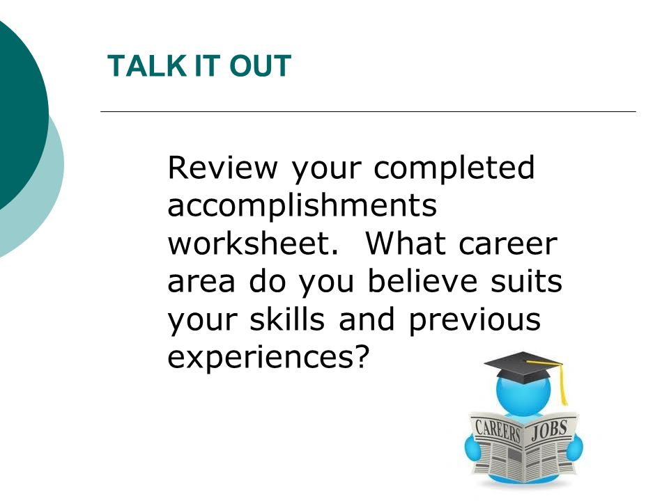 Chapter 13 Job Se Skills Ppt Video Online Download. Talk It Out Review Your Pleted Acplishments Worksheet. Worksheet. Jobs Worksheet Longman At Clickcart.co