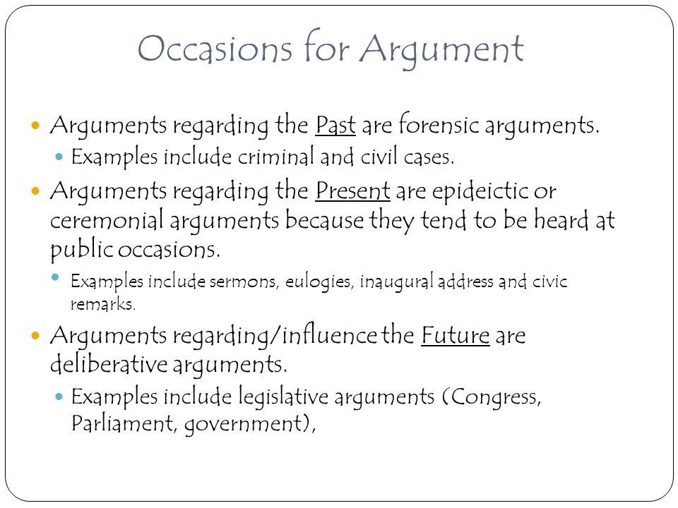 define ceremonial argument