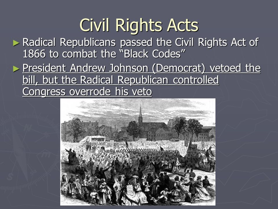 an analysis of the actions by radical republicans and the civil war An analysis of the  after the civil war officially ended in 1865, a period  some radical republicans like charles sumner.