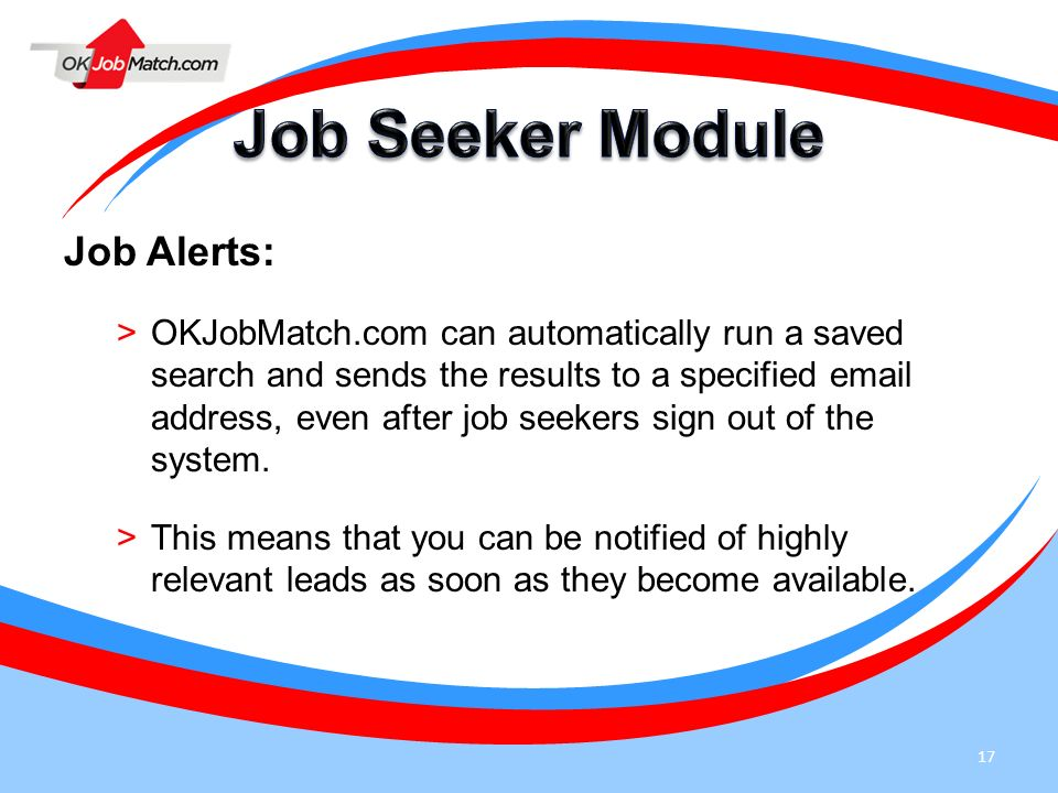 Alerts for job seekers