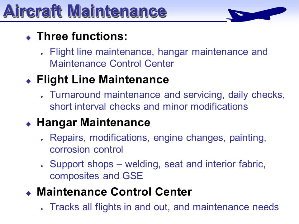 The Maintenance And Engineering Organization Ppt Video