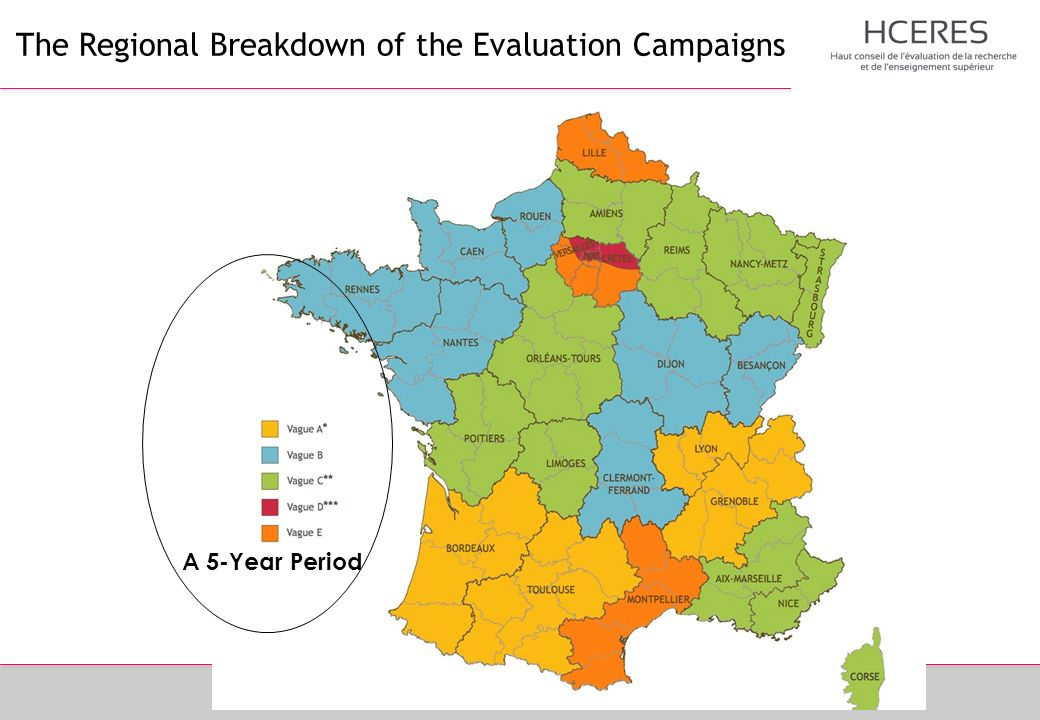 The Regional Breakdown of the Evaluation Campaigns