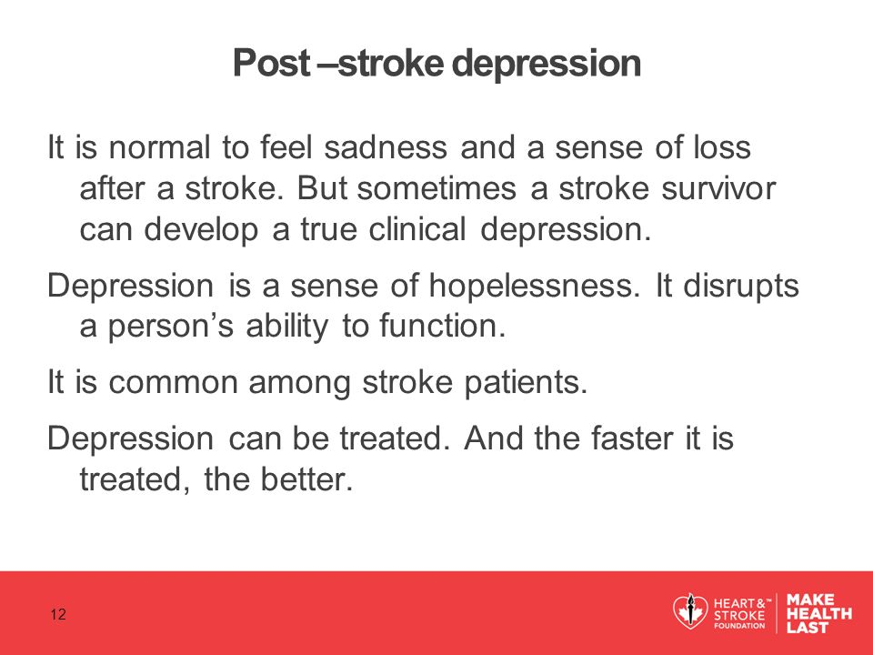 Post –stroke depression