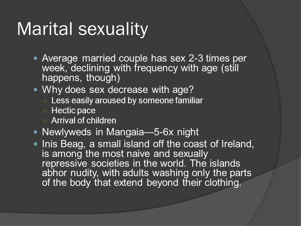 Average amount sex week married couple
