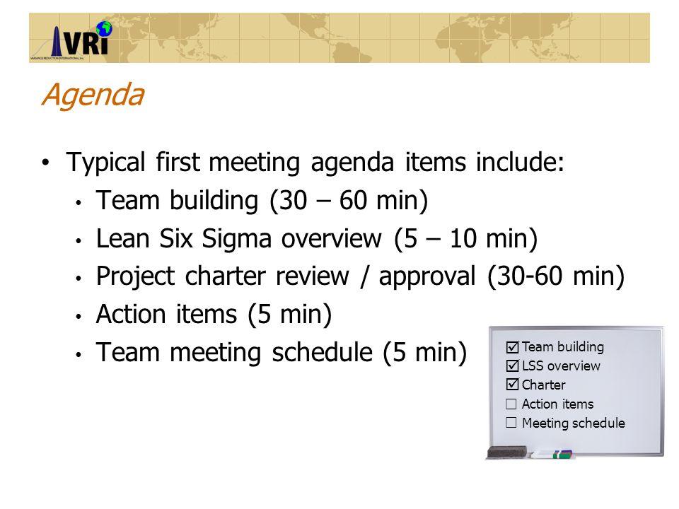 Lean Six Sigma Kick Off Meeting Template