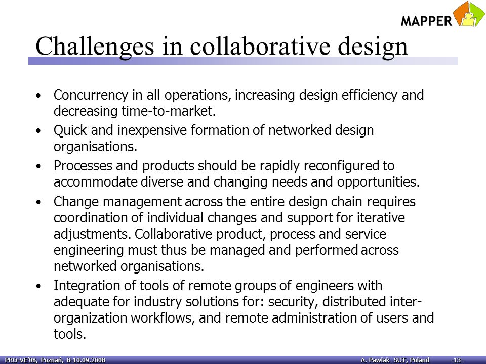 Challenges in collaborative design