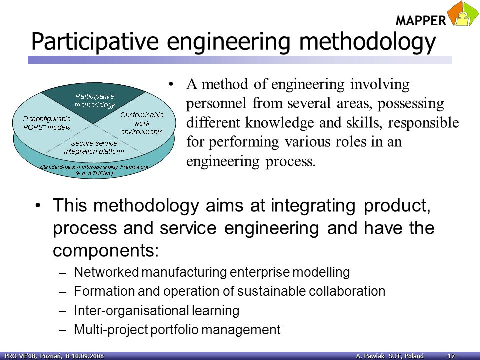 Participative engineering methodology