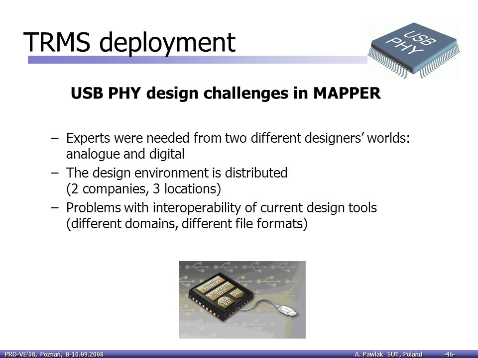 USB PHY design challenges in MAPPER