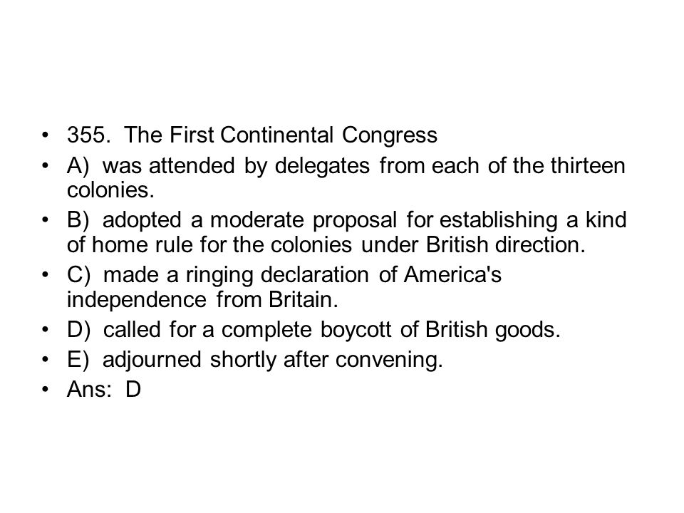 355. The First Continental Congress