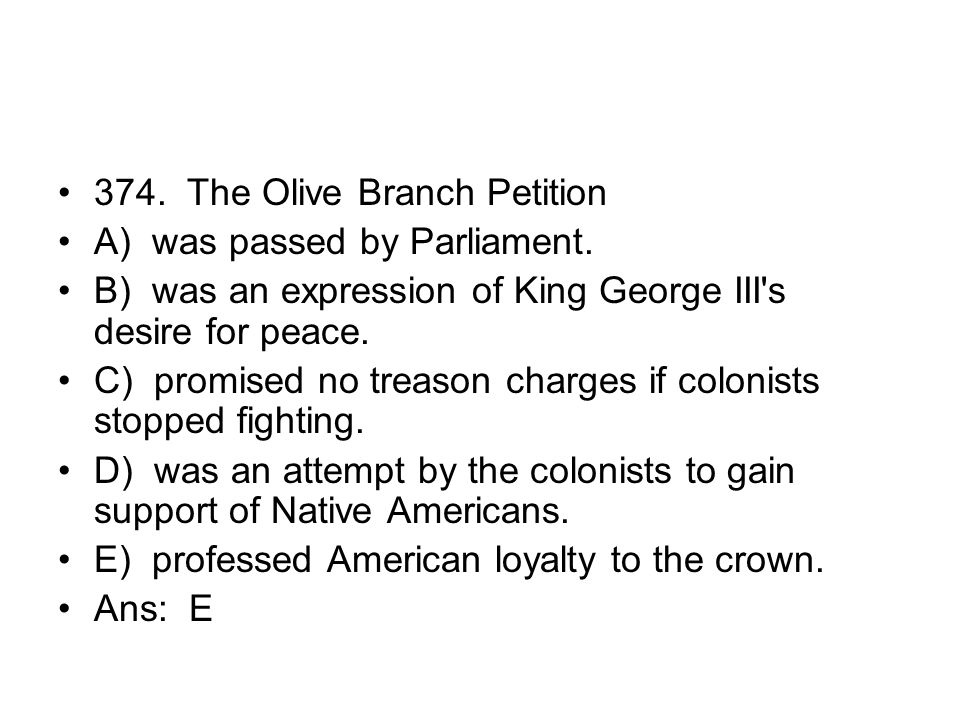 374. The Olive Branch Petition