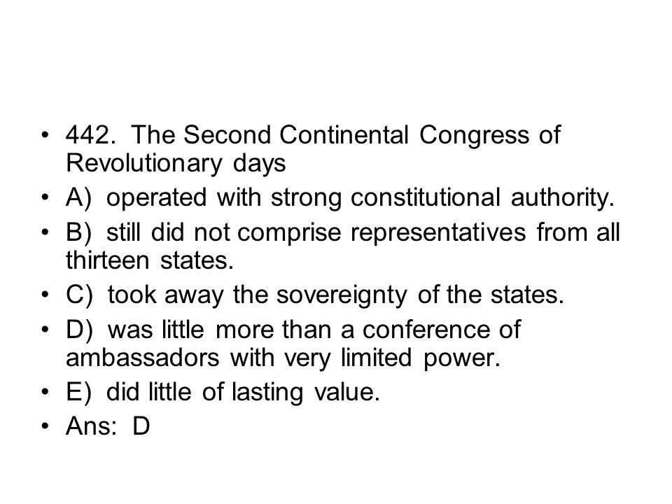 442. The Second Continental Congress of Revolutionary days