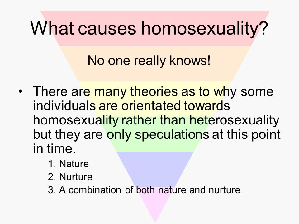 What causes homosexuality psychology