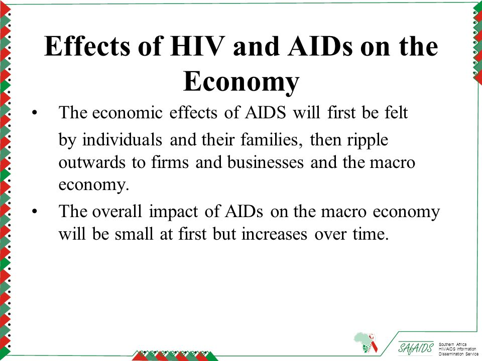 Effects of HIV and AIDs on the Economy