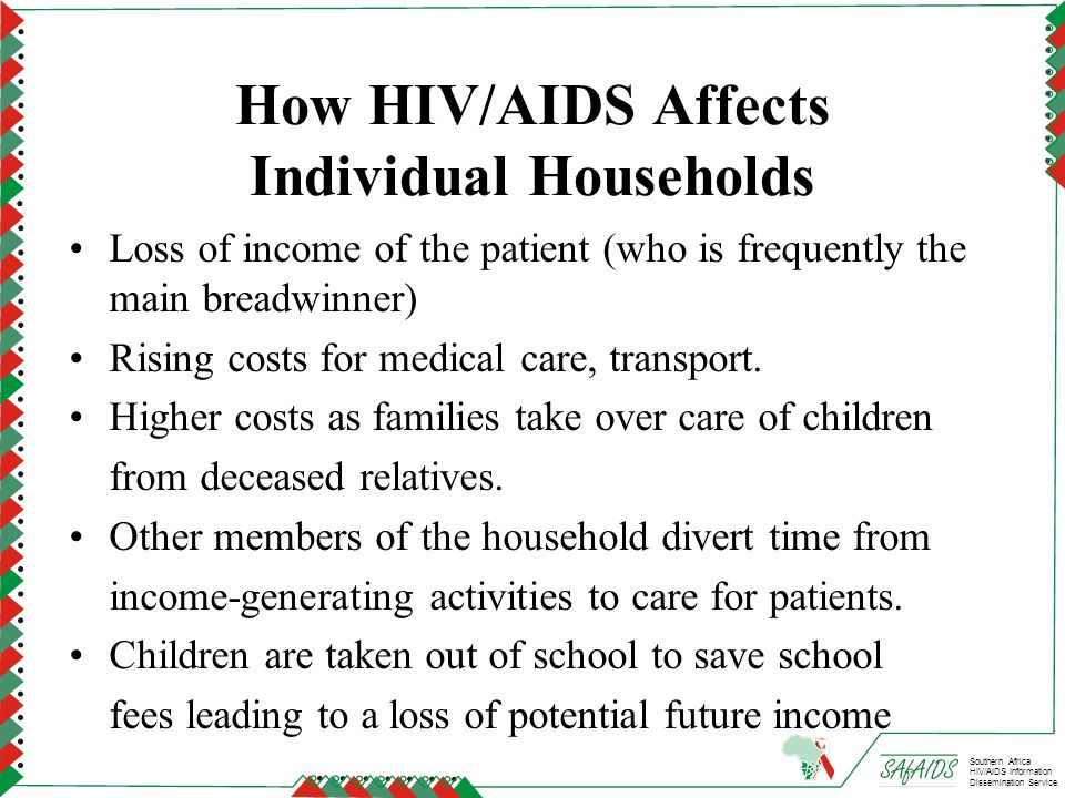 How HIV/AIDS Affects Individual Households