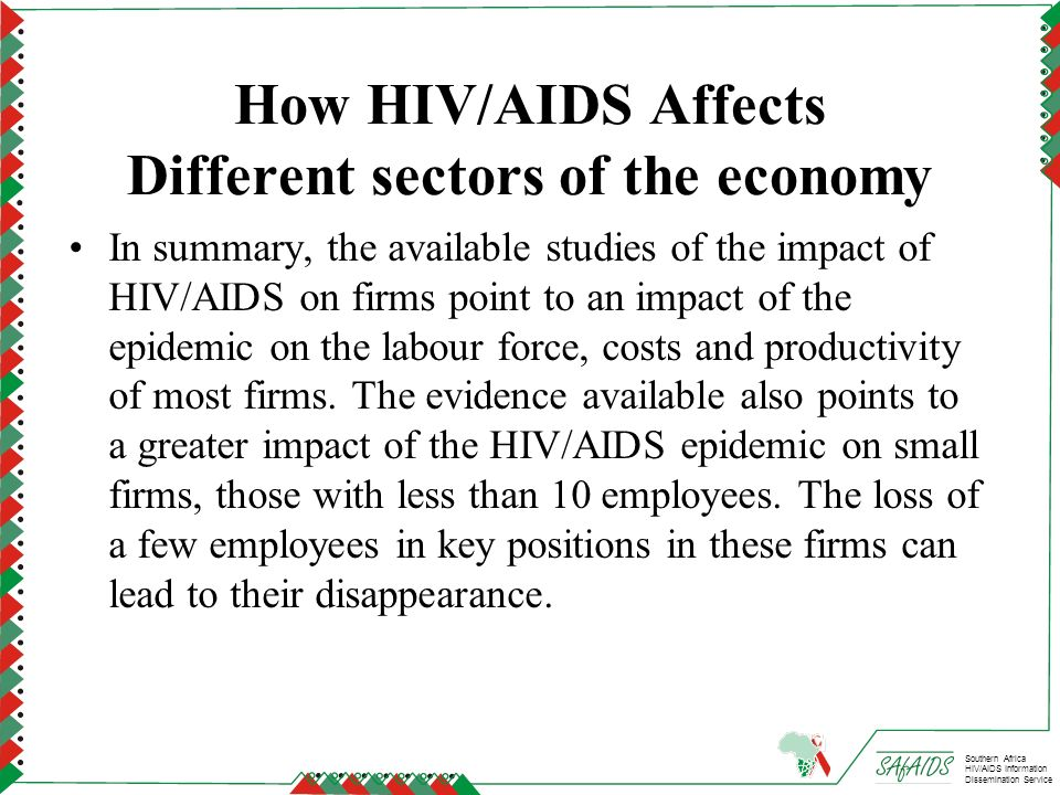 How HIV/AIDS Affects Different sectors of the economy