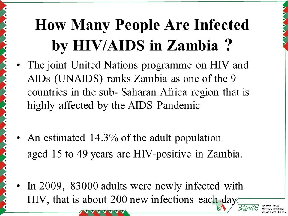 How Many People Are Infected by HIV/AIDS in Zambia