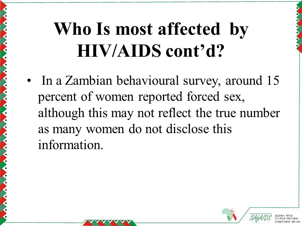 Who Is most affected by HIV/AIDS cont'd