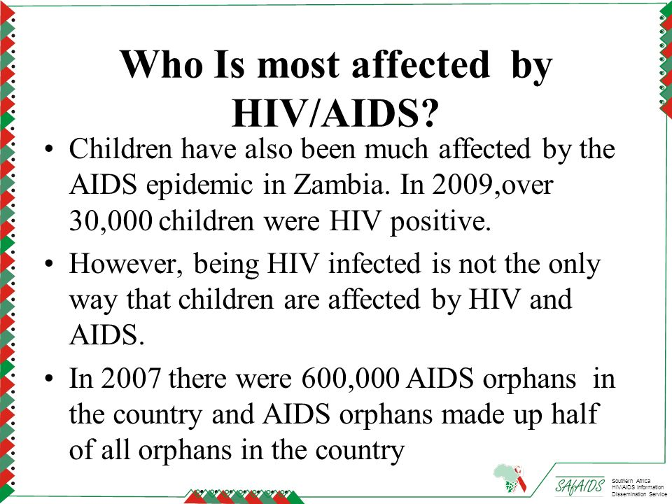 Who Is most affected by HIV/AIDS