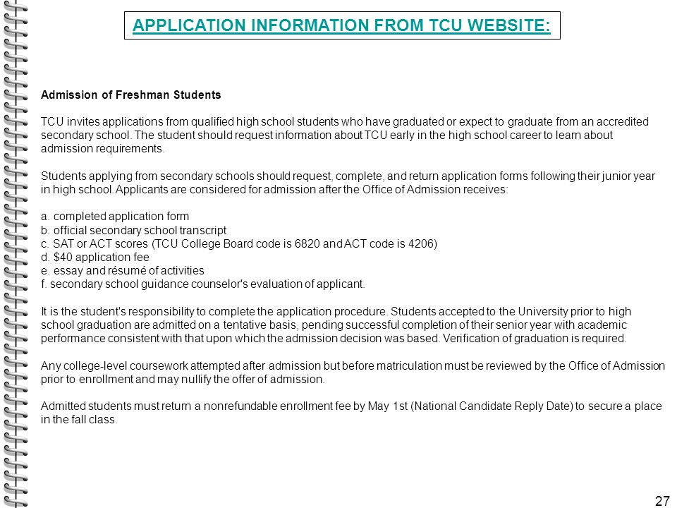 Tcu college application essay example of cover letter for nurse
