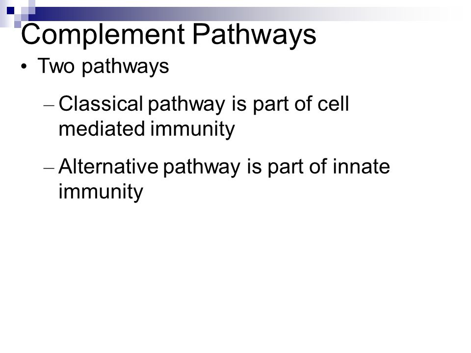 Complement Pathways Two pathways