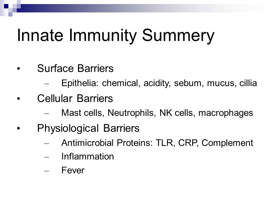 Innate Immunity Summery