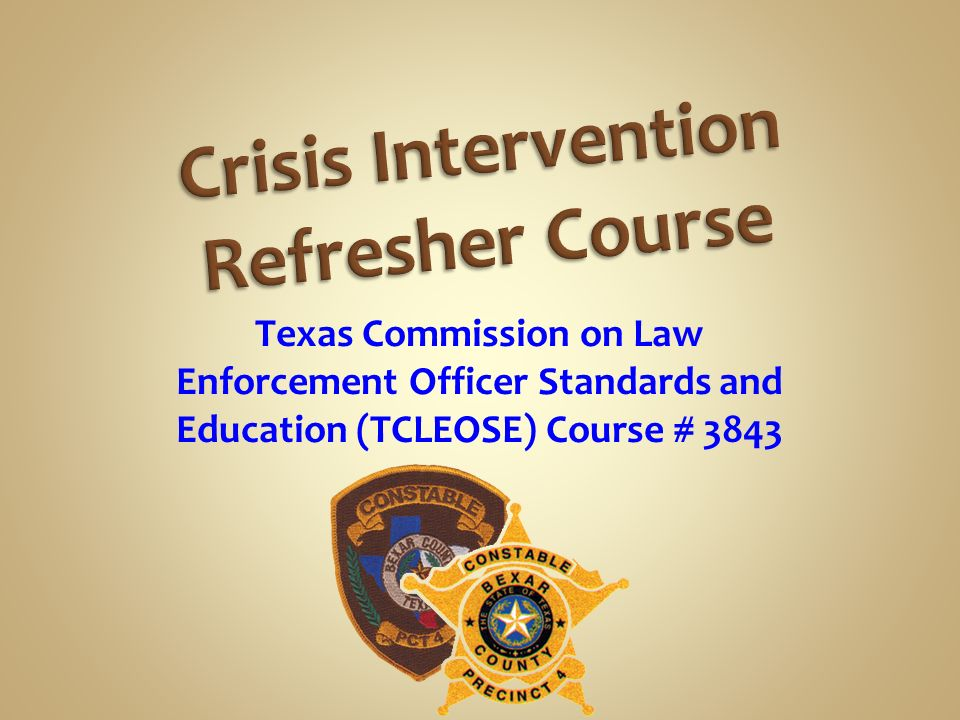 Crisis Intervention Refresher Course - ppt download