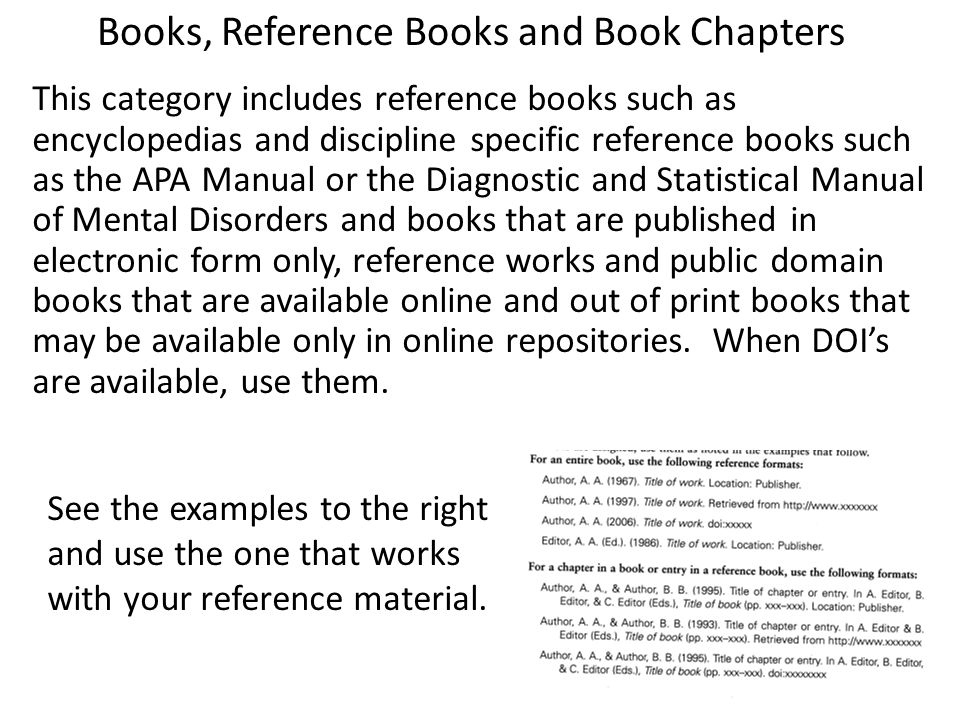 Books, Reference Books and Book Chapters