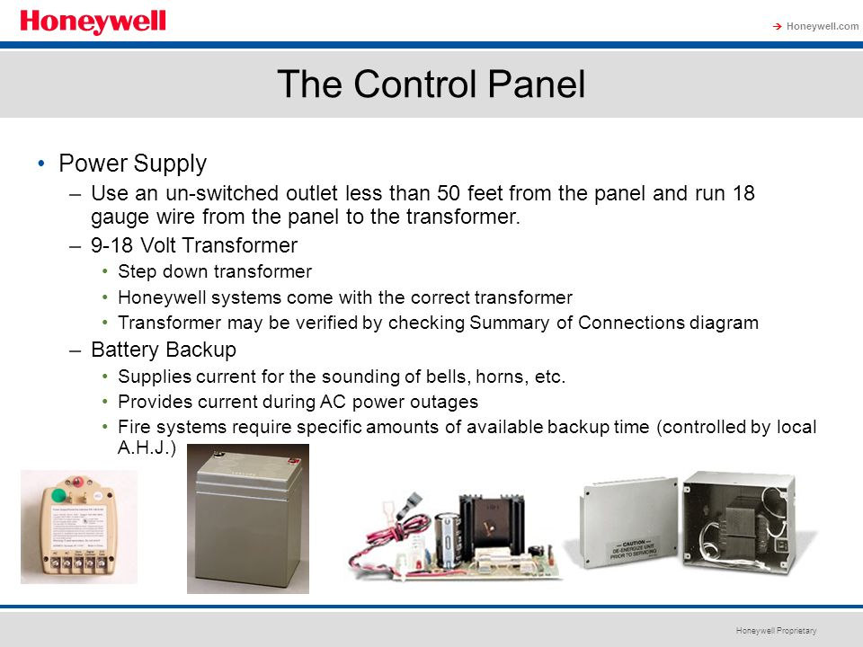 The Control Panel Power Supply