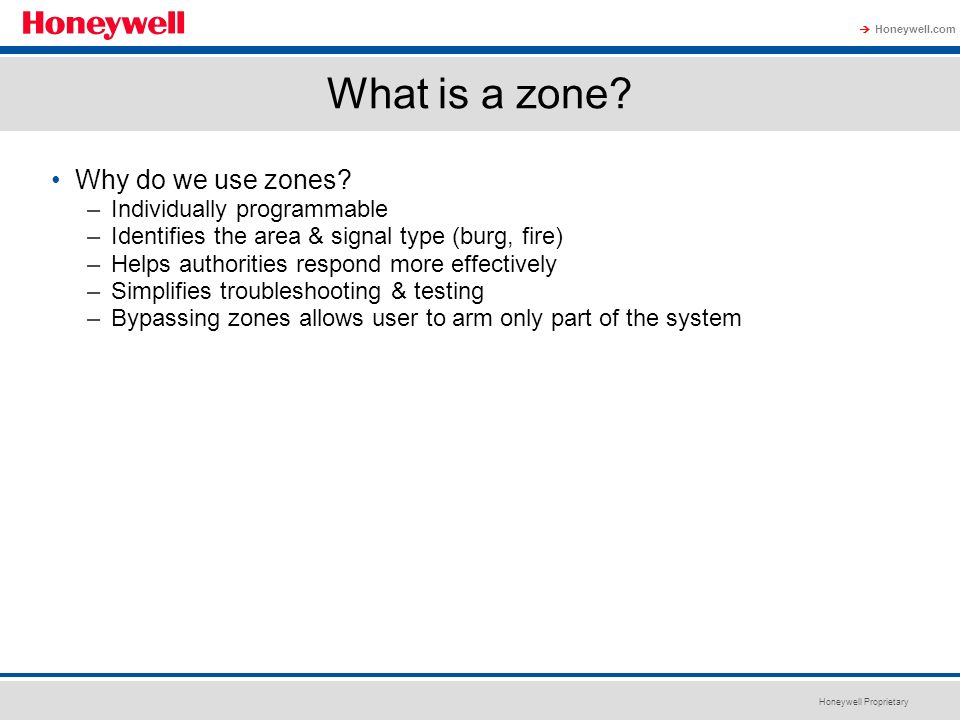 What is a zone Why do we use zones Individually programmable
