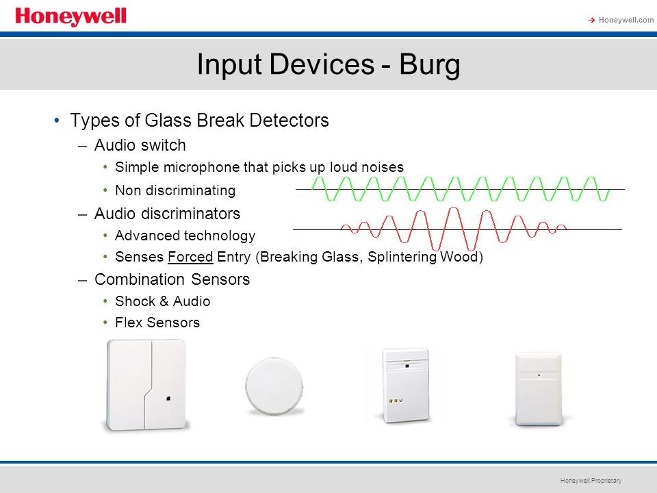 Input Devices - Burg Types of Glass Break Detectors Audio switch
