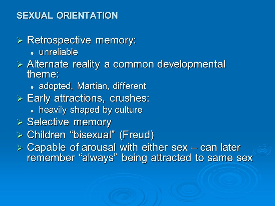 Freud sexual orientation