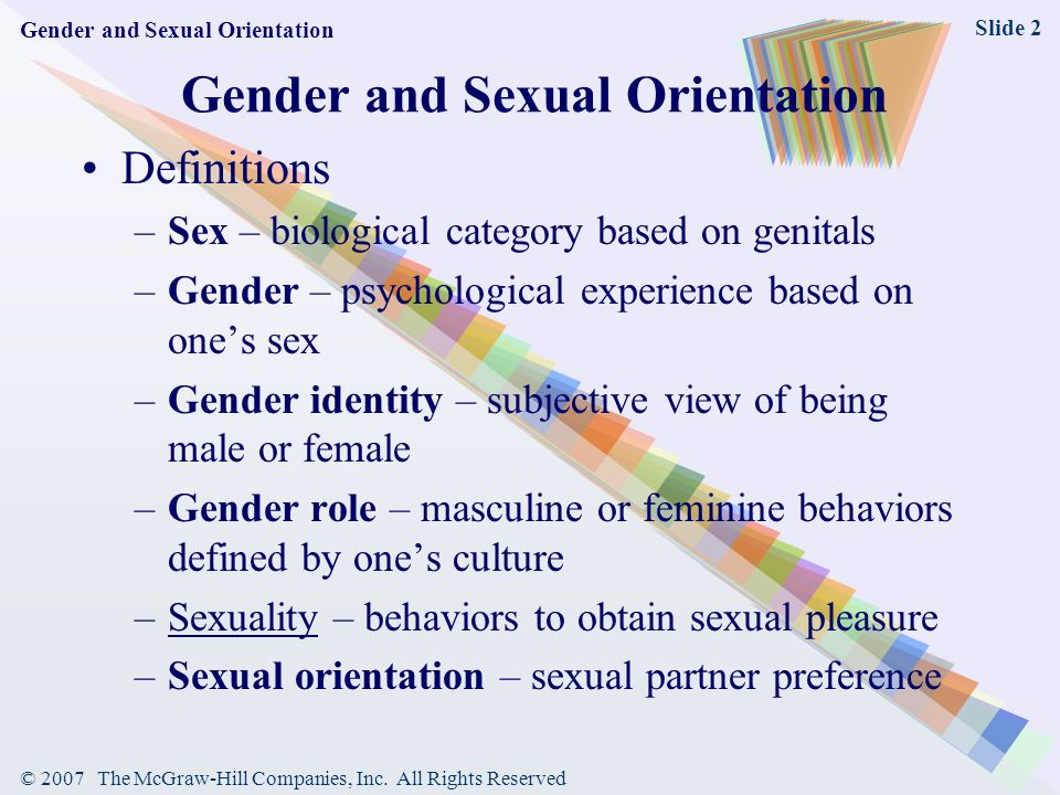 Biological definition of sexuality