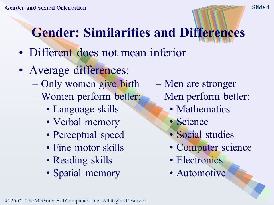 Gender similarities and differences in sexuality and depression