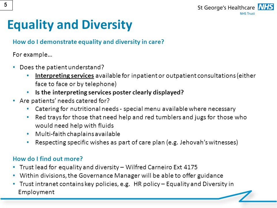 Equality & diversity by kristi long.