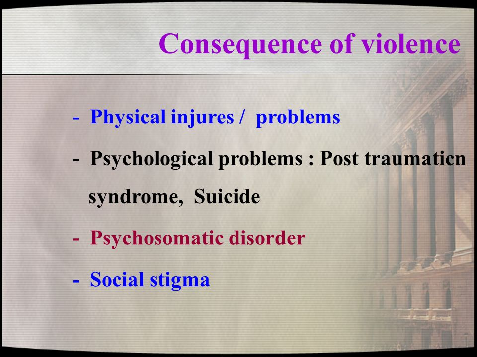 Consequence of violence