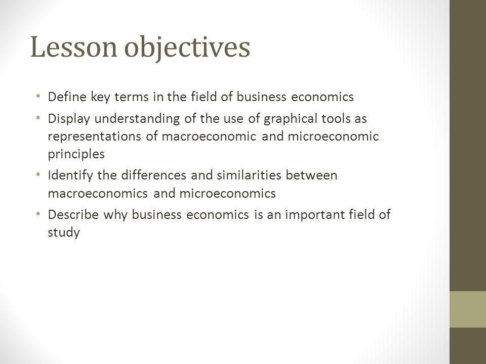 similarities between macro and microeconomics