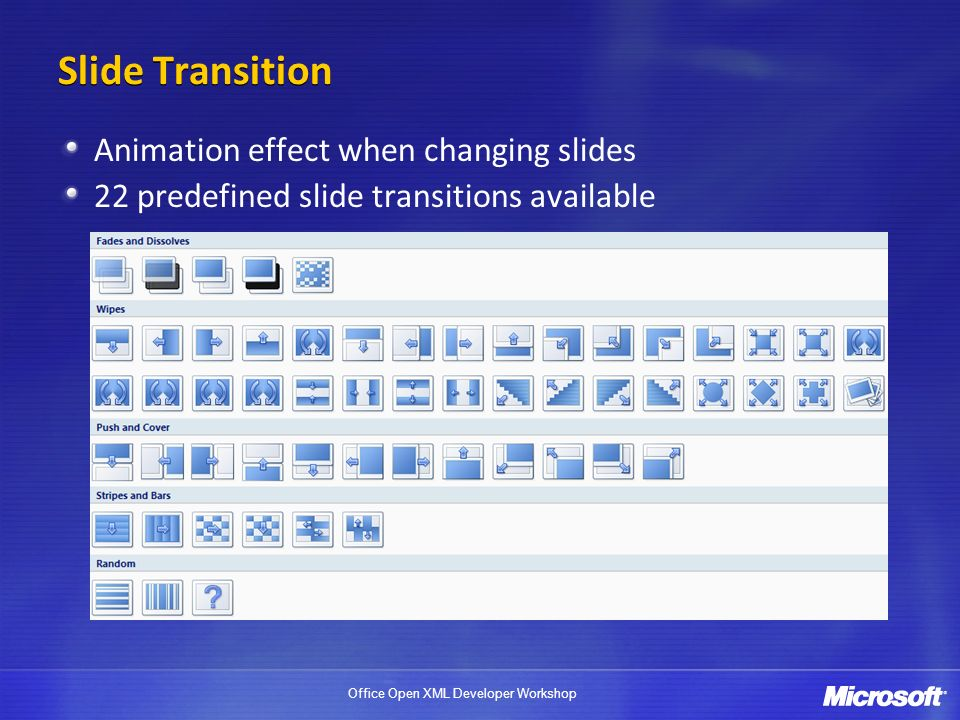Slide Transition Animation effect when changing slides