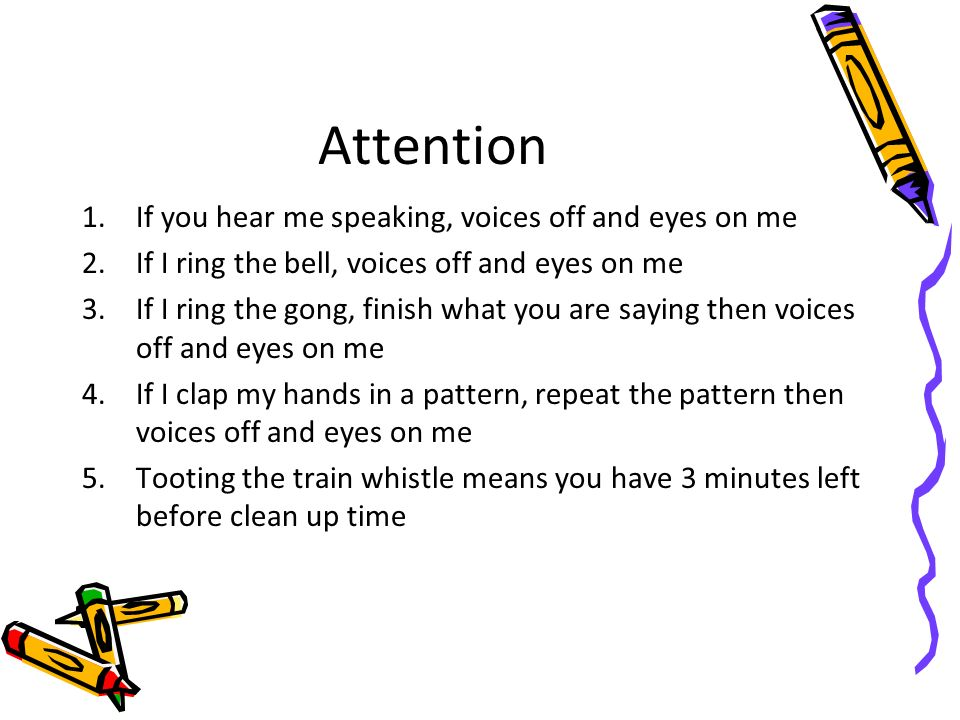 Attention If you hear me speaking, voices off and eyes on me