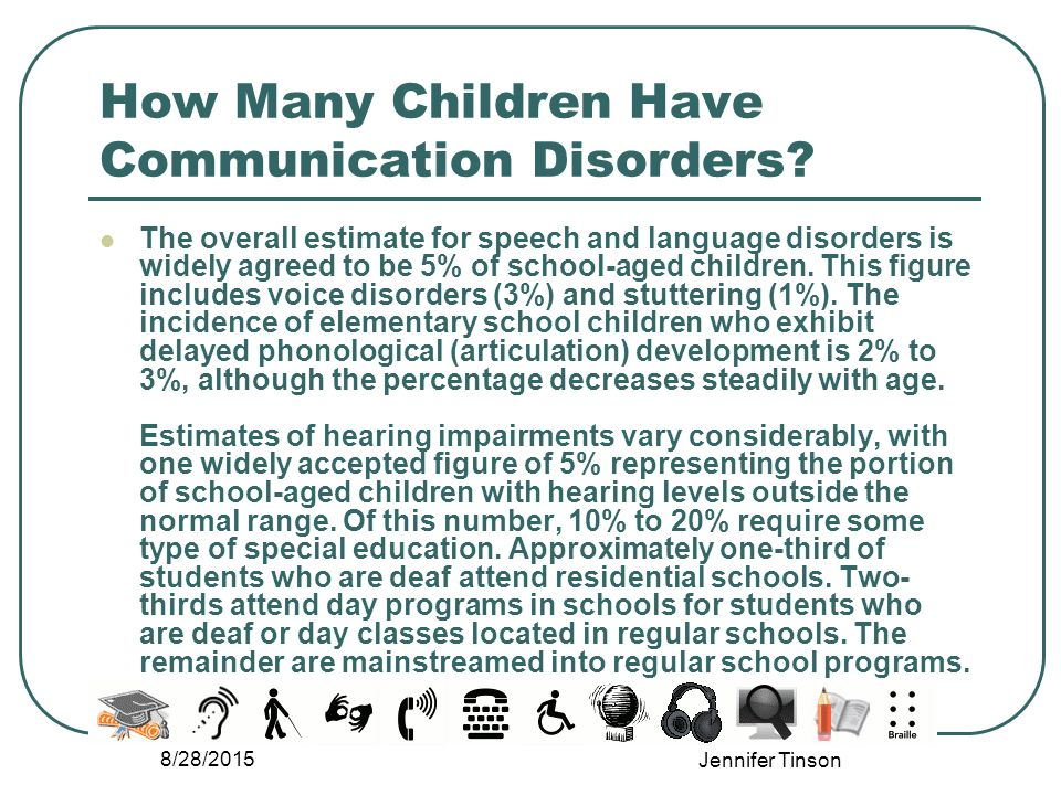 Communication Disabilities - ppt video online download