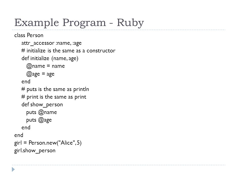 The Ruby Programming Language - ppt video online download