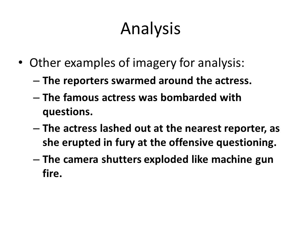 imagery examples sentences