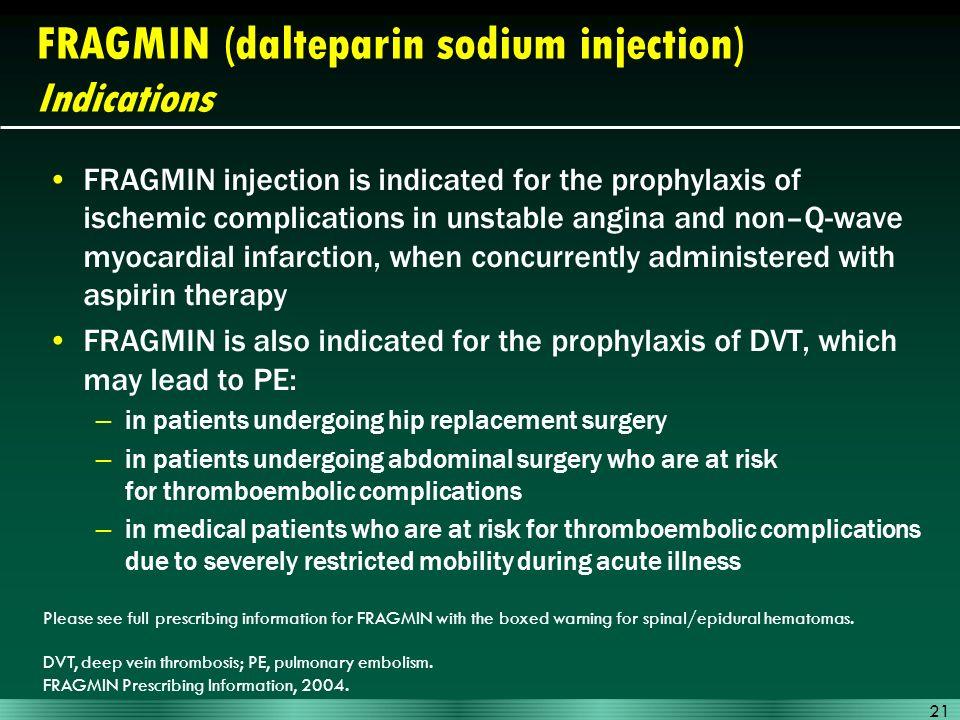 Fragmin Dalteparin Sodium Injection Ppt Download