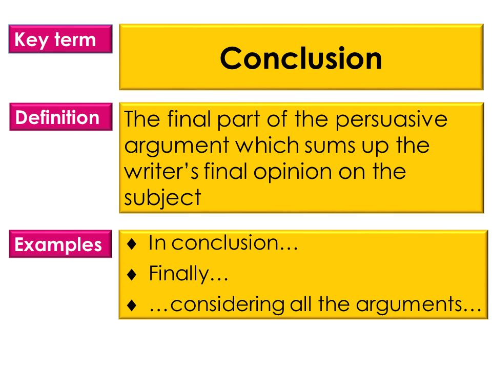 what is the definition for conclusion